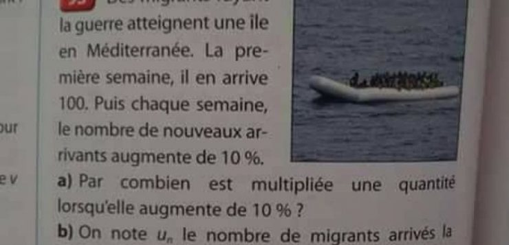 استخدام اللاجئين في تمرين رياضيات يثير غضبًا في فرنسا